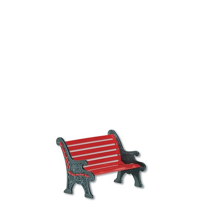 CP Red Wrought Iron Park Bench,56.56445