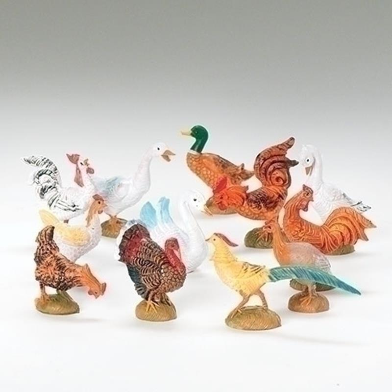 "5"" Barnyard Birds 12pc. Set,51517"