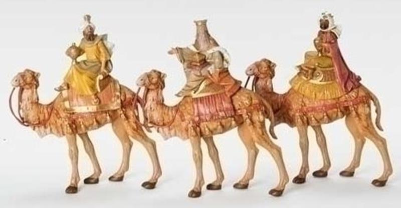 "7.5"" Three Kings on Camels,51814"