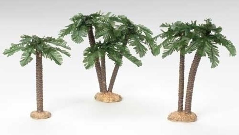 "5"" Multi Trunk Palm Trees 3pc. Set,56570"