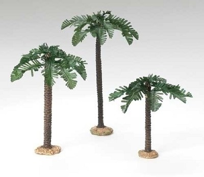 "5"" Single Trunk Palm Trees 3pc Set,56572"