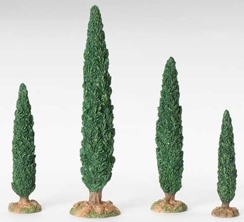 "5"" Cypress Trees 4pc. Set,54601"