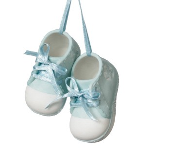 Boy Baby Shoe Ornament Porcelain,949320