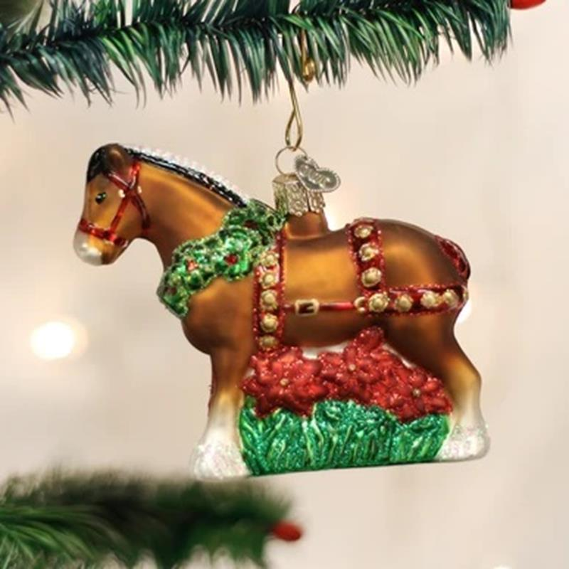 Holiday Clydesdale Ornament,12255