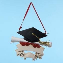 "4.25"" Resin Graduation Ornament,A0657"