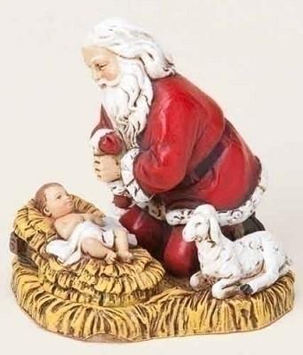Kneeling Santa Ornament,35860