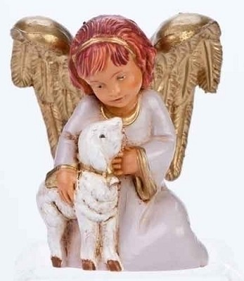 "5"" Adina, Angel w/ Lamb,54044"