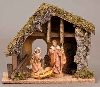 "5"" 3pc Nativity Set w/ Stable,54690"