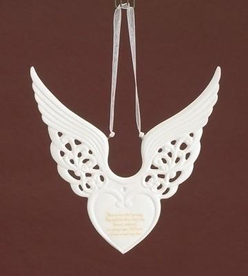 Memorial Wing Heart Ornament,37134