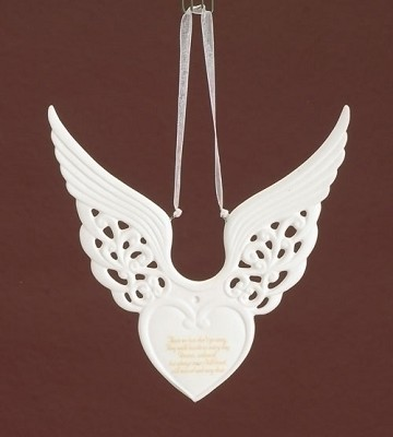 Memorial Wing Heart Ornament,37134