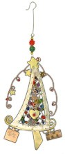 Happy Tree Metal/Bead Crafted Ornament,963-0542