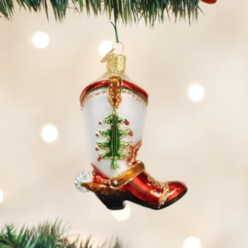 Christmas Cowboy Boot,32159