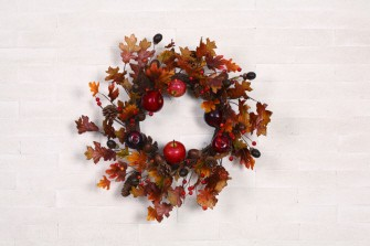 "23"" Harvest Apple Wreath,G2004"