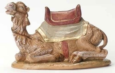 "7.5"" Seated Camel w/ Blanket,52843"