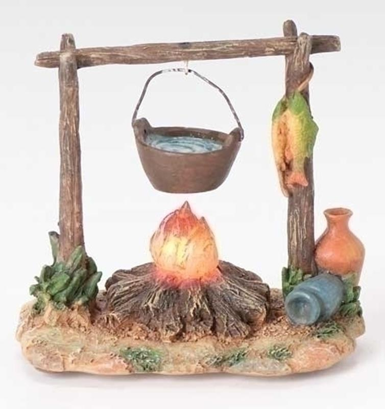 "5"" Large Lighted Campfire,59532"
