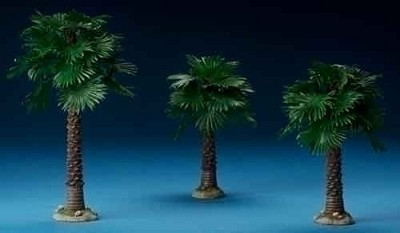 Fan Palm Trees - 3pc Set,59533