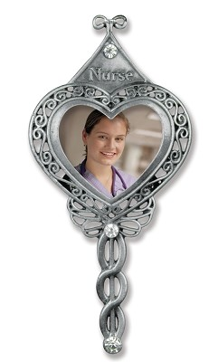 Nurse Photo Ornament Brushed Metal,3809