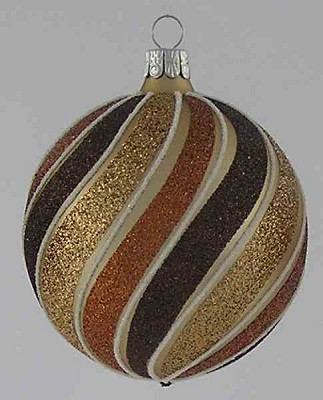 Matte Gold and Brown Spirals Ball,BM435