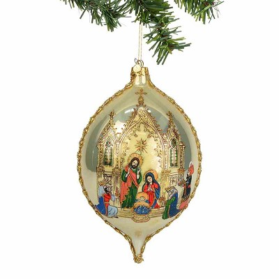 Nativity Christmas in City Jumbo Oval Orn.,4036382