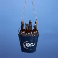 Bud Light Bottles in Bucket Orn,AB9124