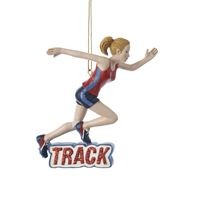 Track Girl Ornament,C7264G