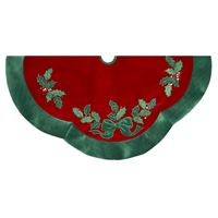 Velvet Red with Green Treeskirt,H5244