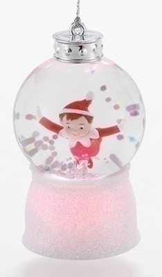 "3"" LED Flying Elf Mini Glitterdome,33073"