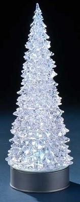 LED Rotating Tree w/ Silver Base,33439