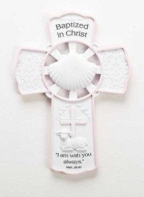 Boy Baptism Wall Cross,42698