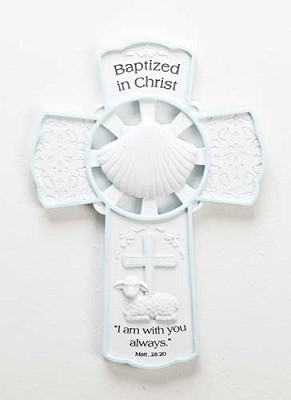 Girl Baptism Wall Cross,42699