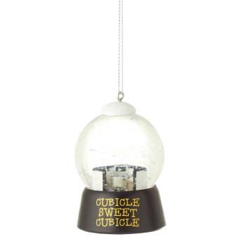 Cubicle Snowglobe Orn,100987