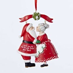 Mr & Mrs Santa Under Mistletoe,C8800
