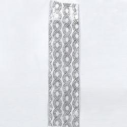 Silver/White Glitter Pattern,J2194