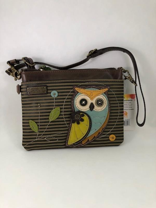 Owl Mini Crossbody Olive Stripe,826OLA7S