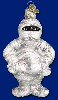 Mummy Glass Ornament,26058
